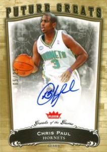 2005-06 Fleer Greats of the Game Gold Chris Paul RC #113 Autograph