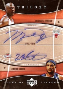 2006-07 Upper Deck Trilogy Signs of Stardom Autograph Michael Jordan, LeBron James