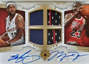 2007-08 Ultimate Collection Matchups Autographs Michael Jordan, LeBron James