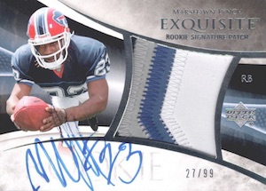 2007 Exquisite Collection Marshawn Lynch RC #131 Autographed Patch