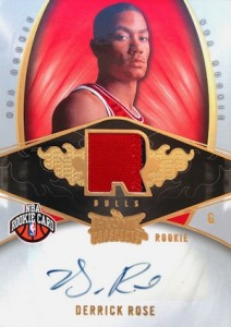 2008-09 Hot Prospects Derrick Rose RC #137 Autographed Jersey