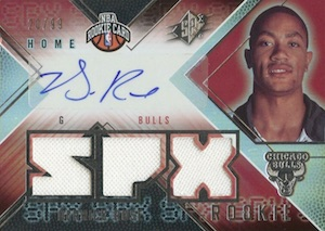 2008-09 SPx Derrick Rose RC Home Autographed Jersey
