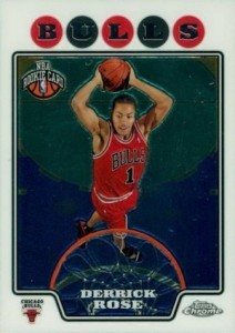 2008-09 Topps Chrome Derrick Rose RC 181
