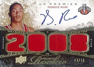 Top 10 Derrick Rose Rookie Cards  3