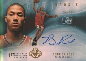 2008-09 Upper Deck Radiance Derrick Rose RC #89 Autograph