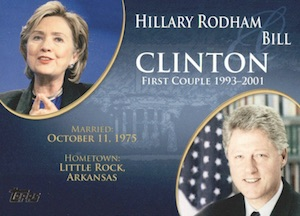 2008 Topps Update First Couples Hillary Clinton, Bill Clinton #FC-40