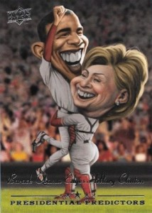 2008 Upper Deck Presidential Predictors Hillary Clinton Barack Obama
