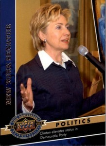 2009 Upper Deck 20th Anniversary Hillary Clinton