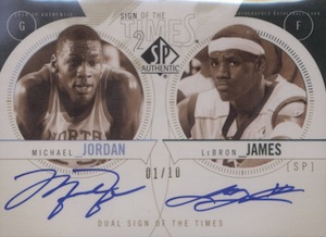 2010-11 SP Authentic Sign of the Times 2 Michael Jordan, LeBron James
