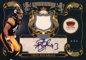 2010 Crown Royale Royalty Materials Autographs Troy Polamalu #14