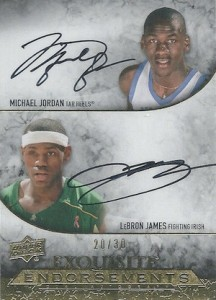 2012-13 Exquisite Collection Endorsements Dual Michael Jordan, LeBron James