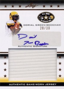 2012 Leaf Army All-American Game-Worn Jersey Autograph Dorial Green-Beckham