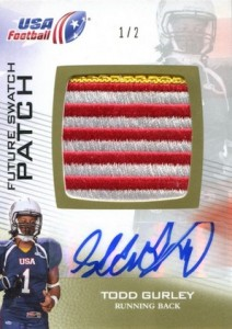 2012 Upper Deck USA Football Future Swatch Patch Autograph Todd Gurley