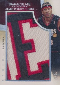 2013-14 Immaculate Collection Patches Letter Allen Iverson