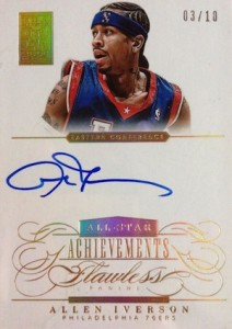 2013-14 Panini Flawless All-Star Achievements Autographs Gold Allen Iverson