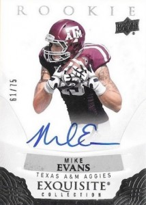 2013 Exquisite Collection 2014 Draft Picks Autographs Mike Evans