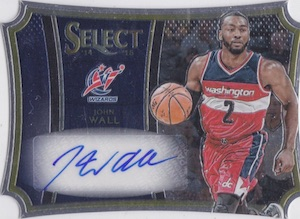 2014-15 Panini Select Basketball Die-Cut Autograph John Wall