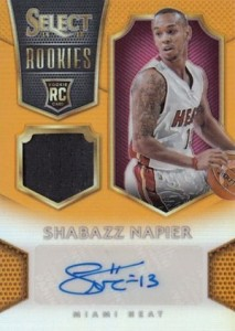 2014-15 Panini Select Basketball Rookie Jersey Autographs Gold