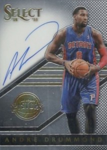 2014-15 Panini Select Basketball Signatures Drummond