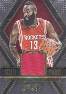 2014-15 Panini Select Basketball Swatches Harden