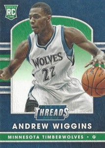 2014-15 Panini Threads Andrew Wiggins RC Leather