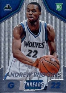 2014-15 Panini Threads Andrew Wiggins RC Micro-Etched