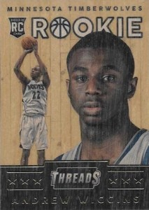 2014-15 Panini Threads Andrew Wiggins RC Wood