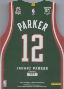 2014-15 Panini Threads Jabari Parker RC #202 Team Jersey Die-Cut