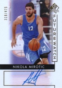 2014-15 SP Authentic Future Watch Nikola Mirotic #89 Autograph