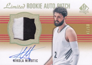 2014-15 SP Authentic Nikola Mirotic #86 Limited Patch Autograph