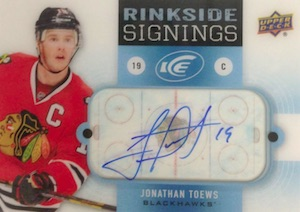 2014-15 Upper Deck Ice Hockey Rinkside Signings