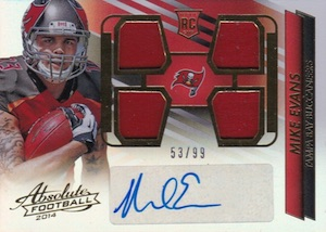 2014 Absolute Mike Evans RC #232 Autographed Jersey