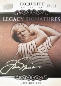 2014 Exquisite Collection Legacy Signature Autographs Jack Nicklaus