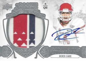 Derek Carr Rookie Card Gallery and Checklist 40