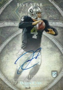 Derek Carr Rookie Card Gallery and Checklist 24