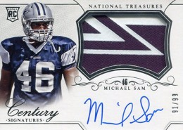 2014 Panini National Treasures Football Rookie Patch Autographs Gallery 6