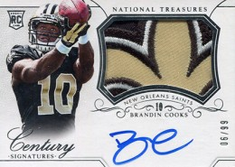2014 Panini National Treasures Football Rookie Patch Autographs Gallery 2
