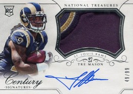 2014 Panini National Treasures Football Rookie Patch Autographs Gallery 23