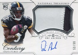 2014 Panini National Treasures Football Rookie Patch Autographs Gallery 25