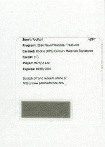 2014 Panini National Treasures Football Rookie Patch Autographs Gallery 30