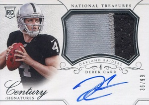 Derek Carr Rookie Card Gallery and Checklist 11