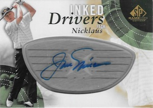 2014 SP Game Used Inked Drivers Jack Nicklaus