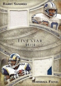 2014 Topps Five Star Football Dual Legends Relics