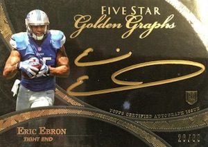 2014 Topps Five Star Football Golden Graphs Autograph