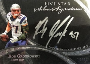 2014 Topps Five Star Football Silver Signings Gronkowski