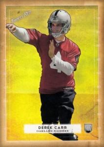 Derek Carr Rookie Card Gallery and Checklist 36