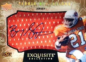 2014 Upper Deck Exquisite Collection Football Fabric Dimensions
