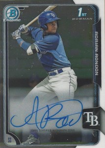 2015 Bowman Baseball Chrome Prospect Autographs Guide 40