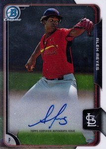 2015 Bowman Chrome Prospect Autographs Alex Reyes