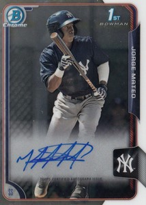 2015 Bowman Baseball Chrome Prospect Autographs Guide 24